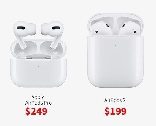 مقایسه AirPods Pro در مقابل AirPods 2