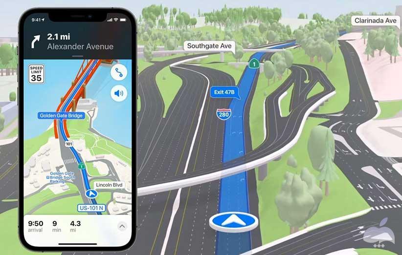 نقد و بررسی iOS 15 - نقشه